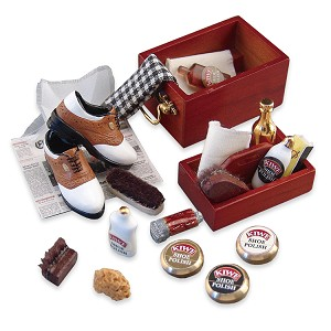 1.406/7 Deluxe Shoe Shine Kit  Reutter Porzellan Dollhouse miniature 1:12