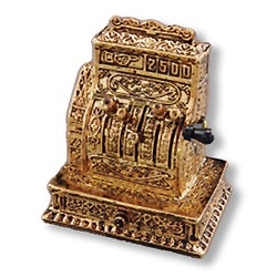 1.819/8 Antique Cash Register Reutter Porzellan Dollhouse miniature 1:12