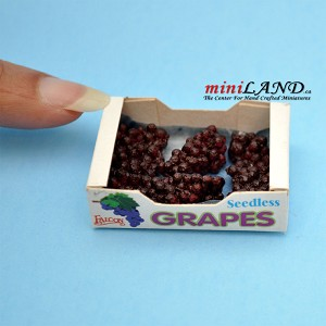 Red Grape Case Dollhouse miniature 1:12 scale