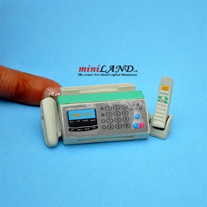 Fax machine with telephone dollhouse miniature 1:12 scale