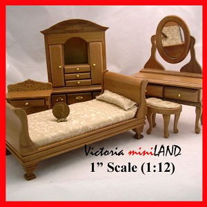 Bedroom Economy Set AB866T 5pcs 1:12 scale dollhouses miniature