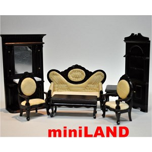 Economy Set 7pcs living room set 1:12 scale dollhouses miniature