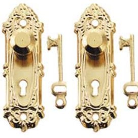 Brass Opryland Knob /Key Plate  2set/pk
