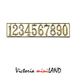 Brass House Numbers 1set/pkg