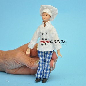 "Baker Chef Porcelain doll  5.5""H"