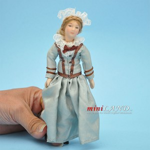 "Victorian Lady Porcelain doll  5.5""H"