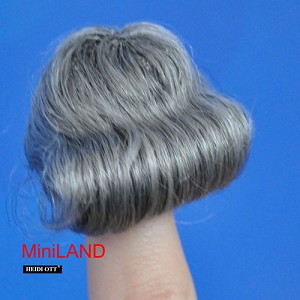 XZ807B Heidi Ott grey Wig Doll House Miniature Hair hairstyle 1:12