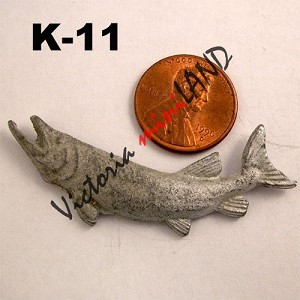 "wall fish 2-1/4""L unfinished DIY metal miniature for dollhouse - Do it yourself"