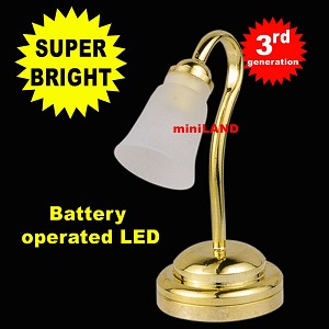 Tulip shade desk brass lamp LED Super bright with On/off switch