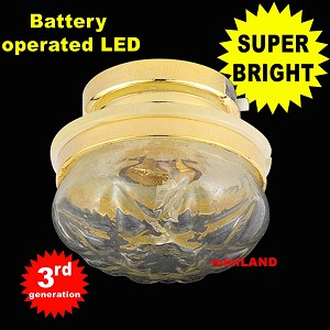 Ceiling lamp  clear shade LED Super bright with On/off switch 1:12 dollhouse miniature