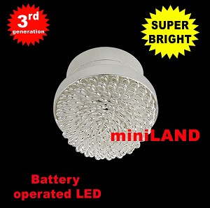 Silvery ceiling lamp LED Super bright with On/off switch