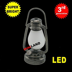 1/6 scale black oil lamp  LED Super bright with On/off switch