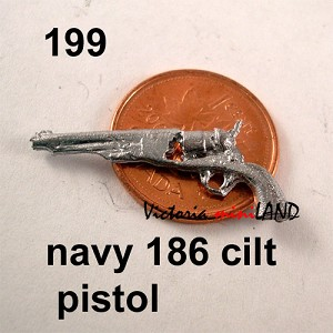 "Navy 186 cilt pistol 1-1/8""L unfinished DIY metal miniature for dollhouse - Do it yourself"
