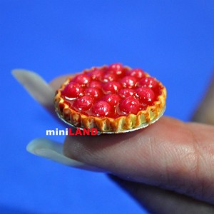 Pie for 1:12 dollhouse miniature handmade food polymer clay