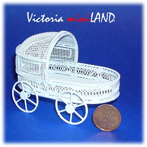 Wire Hooded Flower Cart TMIL073 for 1:12 dollhouse miniature  (COPY)