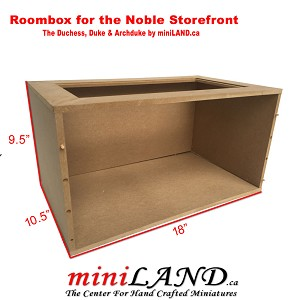 The Noble Roombox - Quality wooden  room 1:12 scale dollhouse miniature for Duchess, Duke and Archduke facades