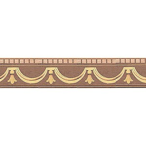 "Inlaid Real Wood Wall wainscoting for 1:12 dollhouse miniature 16.5"" long"
