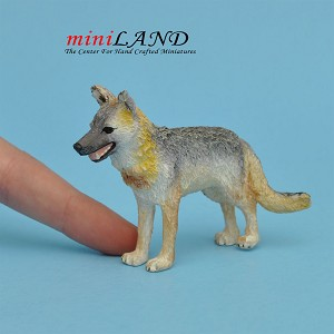 Wolf for dollhouse miniature 1:12 scale