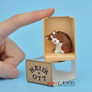 XZ576 Cat by Heidi Ott For dollhouse miniatures 1:12 scale