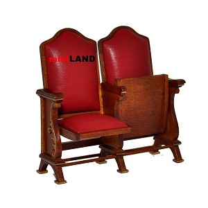Miniature double seats THEATER CHAIR dollhouse cinema 1:12 red leather