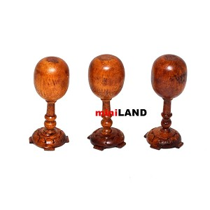 3pcs quality hat stands for dollhouse miniature walnut wood 1:12