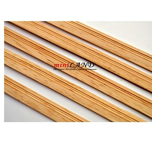 Baseboard Miniatures dollhouse trim molding 5psc 1/12 scale 2mm x 12mm x 50cm